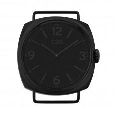 Orologio unisex con cassa nera da 38 mm, quadrante nero opaco