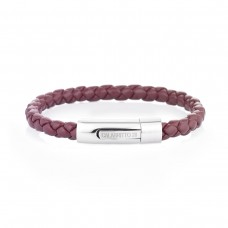 Bracciale in pelle bordeaux