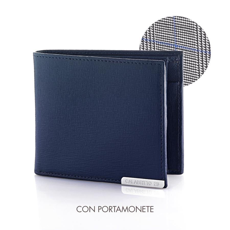 Portafoglio monete in pelle Cybo (Blu)