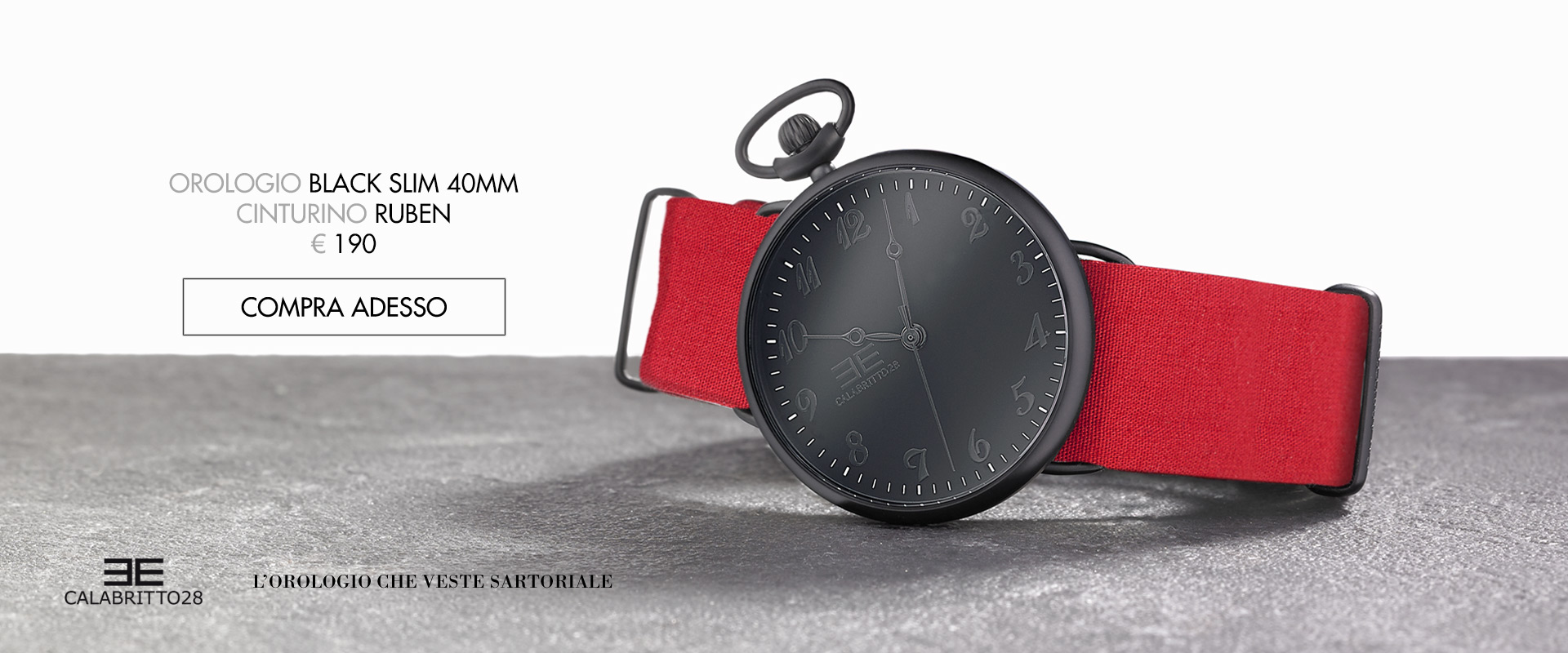 Orologi colonna cx - Black Slim
