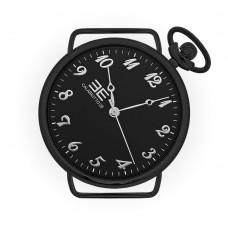 Black Slim Silver - Orologio con cinturino intercambiabile