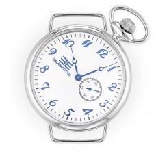 Orologio da uomo, cassa di 42mm quadrante bianco e numeri blu metallizzati in rilievo