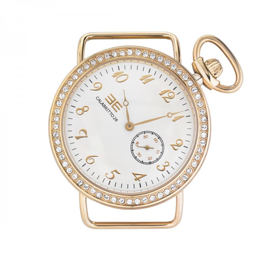Orologio da donna, cassa da 38 mm quadrante bianco e numeri dorati