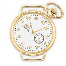 Orologio da uomo, cassa di 42mm con cassa tonda in acciaio dorato