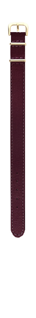 Saffiano Bordeaux Gold (16 mm)
